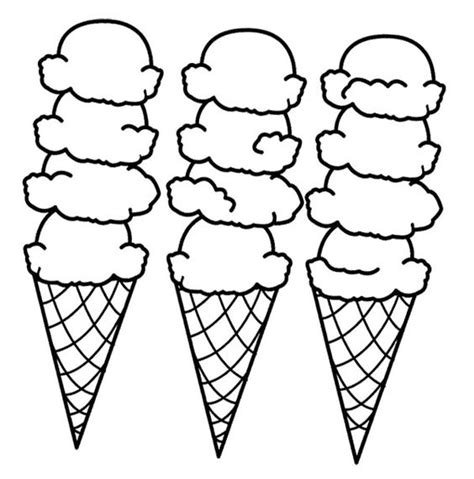 printable coloring pages ice cream big ice cream cones coloring page cookie pinterest