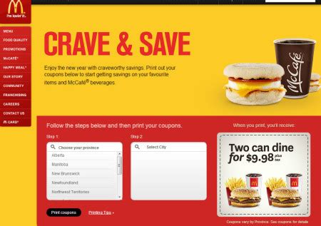 printable restaurant coupons winnipeg mcdonald s canada new printable coupons calgary deals blog