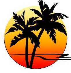 Logo with palm trees