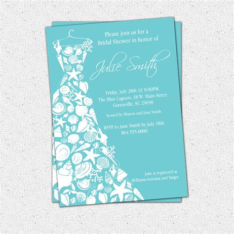 bridal shower invitations custom bridal shower - Customized Wedding Shower Invitations