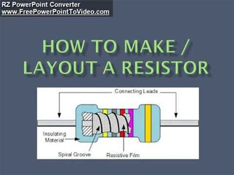 how resistors are made how to make a resistor
