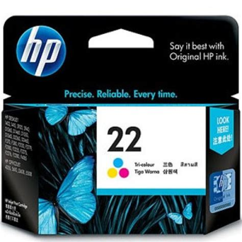 Terlaris Cartridge Hp 22 Color Original jual hp ink cartridge 22 colour harga dan spesifikasi