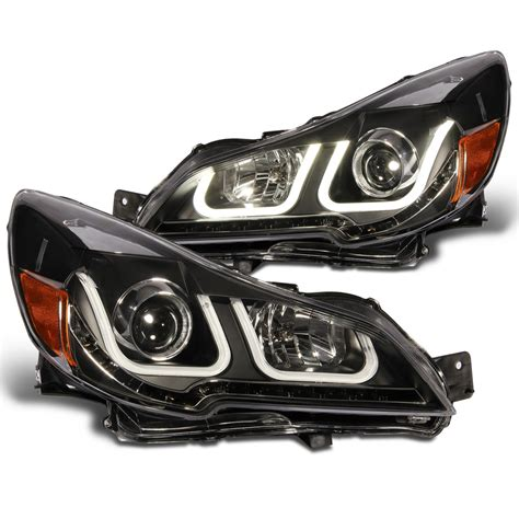 subaru headlight styles 2010 2012 subaru outback led u style light bar projector
