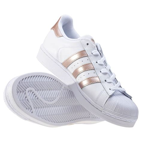 White Gold Superstar adidas superstar womens trainers in white gold