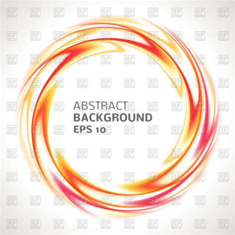 eps format borders abstract orange circle with swirl border vector clipart