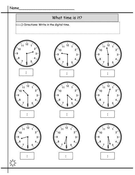 printable telling time sheets free blank clock worksheet to print activity shelter kids