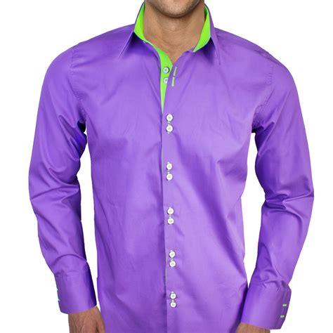 design dress shirts purple with neon green dress shirts