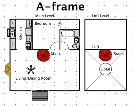 a frame cabin plans free a frame house style a free macdraft floor plan for the mac