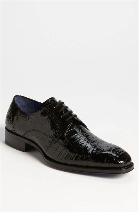 alligator shoes mezlan giotto alligator derby in black for lyst