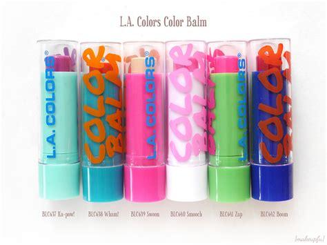 La Color Lip Balm l a colors color balm review makeupfu