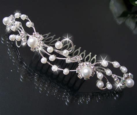 Hochzeitsschmuck Haare by Diadem Tiara Haarreif Haar Krone Silber Strass Hochzeit