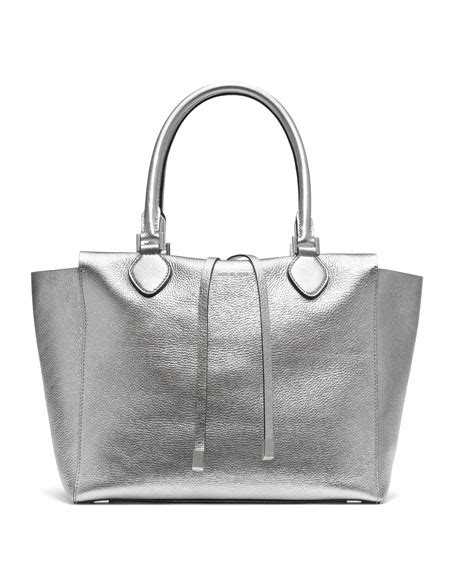 Loyd Maish Metallic Tote 2 by Michael Kors Large Miranda Metallic Tote