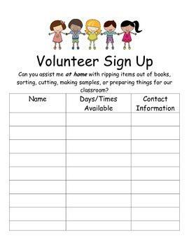 best photos of volunteer sign up sheet template