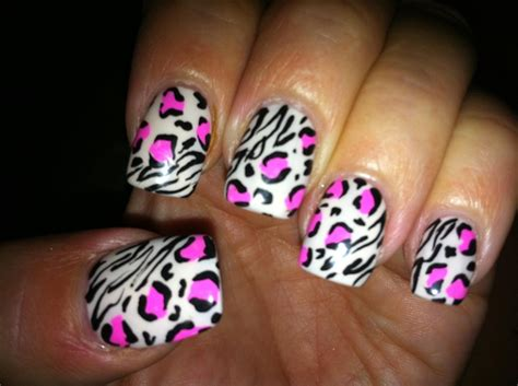 Lnice 28 Pink Leopard zebra and pink leopard mynailart i and in