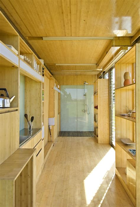 interior of shipping container homes port a bach shipping container home idesignarch