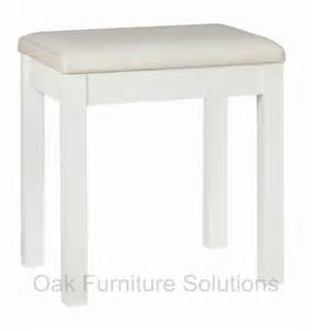 Vanity Stool Storage Atlanta Two Tone Dressing Table Stool Oak Furniture