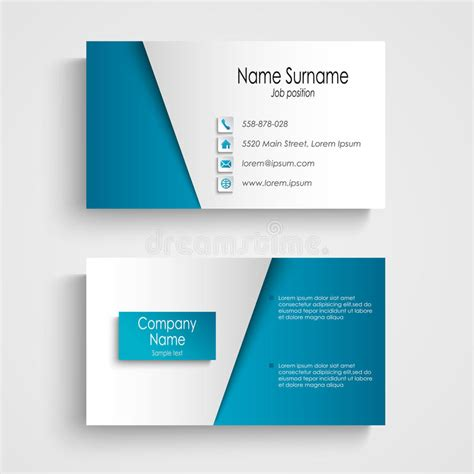 pale blue business card template free modern light blue business card template stock