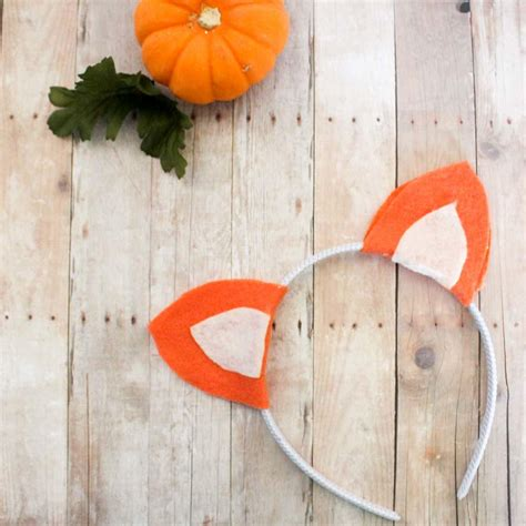 felt fox ears headband favecraftscom