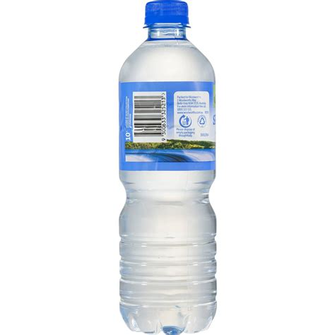 It List Water Bottle by Woolworths Water 600ml Bottle Woolworths