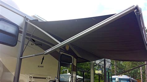 rv awning spring rv awnings and wind flying the koop