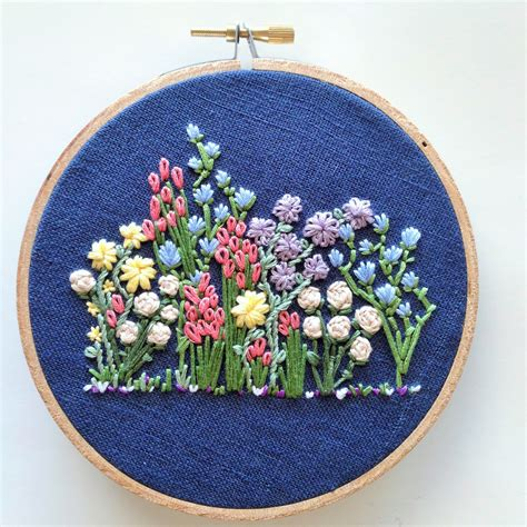 embroidery design making hand embroidery pattern flower embroidery hoop pattern