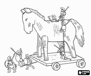 coloring page trojan horse ancient greece coloring pages printable games 2