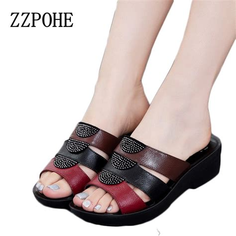 y and comfortable shoes zzpohe fashion mother sandals 2017 summer shoes new slope