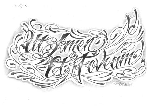 chicano letter latin language by 2face tattoo on deviantart