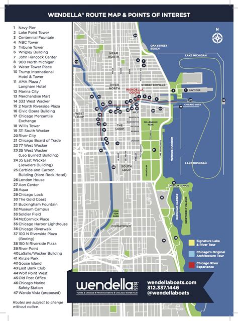 chicago boat tour map chicagoboattourmap jpg