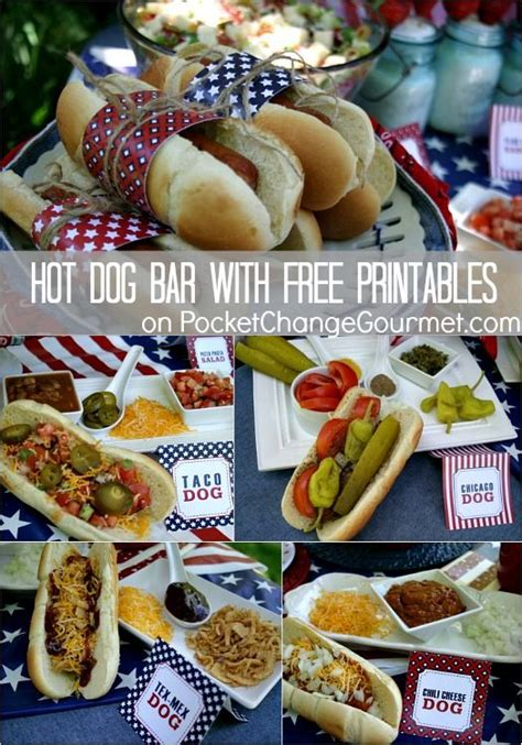 hot dog bar topping ideas hot dog bar recipe hot dogs summer and types of dogs