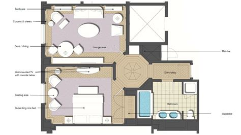 hotel suite floor plan luxury one bedroom suite hotel room with living room