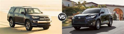 Toyota 4runner Vs Highlander Compare 2017 Toyota 4runner Vs Toyota Highlander