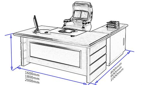 Office Desk Sizes Office Table Dimensions 28 Images Executive Office Table Design L Shape Office Table Black