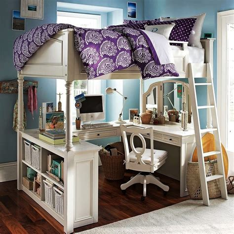 beds with desks under them wood loft beds for girls with desk