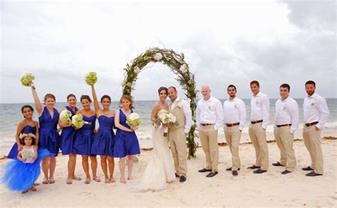 beach wedding party photos 2 wall decal