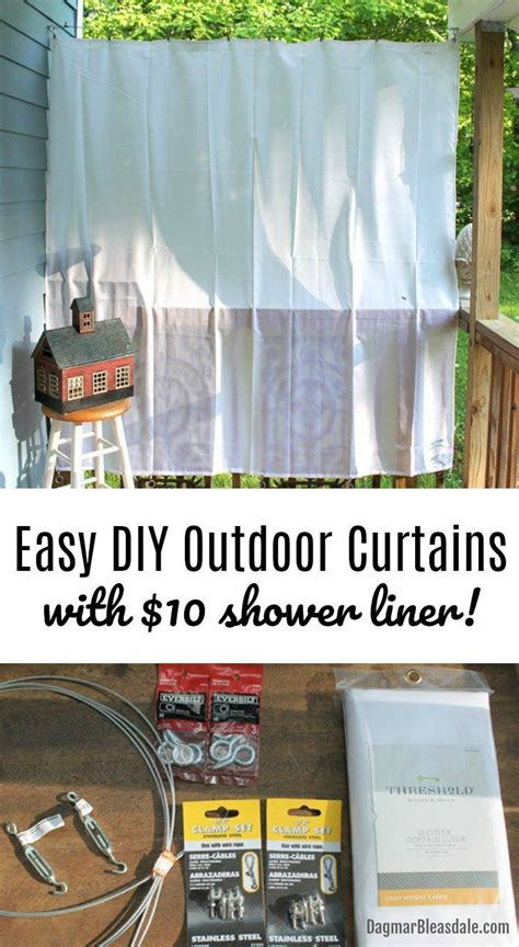 Easy Way To Hang Curtains Best Decor Hacks The Easiest And Cheapest Way To Hang Diy Outdoor Curtains Diy Porch Curtains