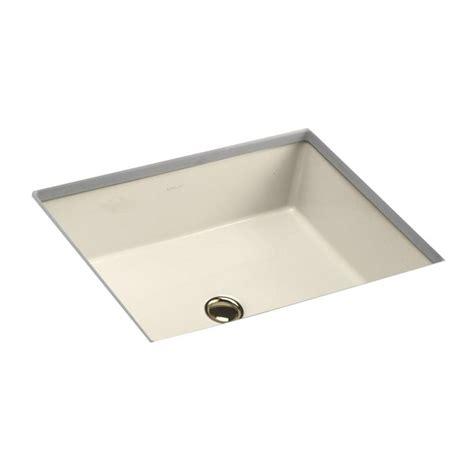 almond undermount bathroom sink kohler verticyl vitreous china undermount bathroom sink