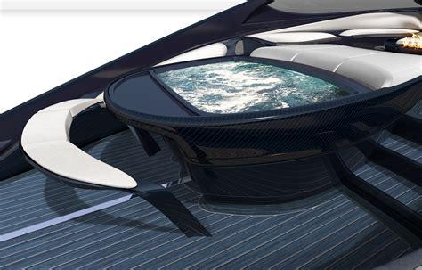 speed boat bar menu bugatti s 4 million yacht has a jacuzzi and fire pit