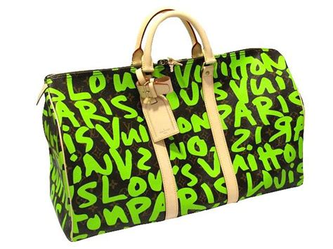 cuore  louis vuitton graffiti keepall