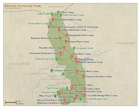 kruger national park map the ultimate guide to the kruger national park maps info