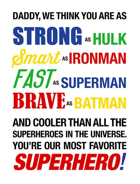 printable superhero quotes 6 simple diy father s day gift ideas mom the magnificent