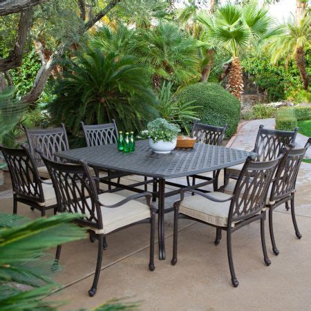8 Seat Patio Dining Set Cast Aluminum Patio Furniture Top 7 Designs Hometone