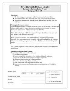 Business Letter Exle Persuasive Sle Persuasive Business Letter Exle