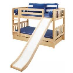 Bunk Bed With Slides Smile Low Bunk Bed With Ladder Slide