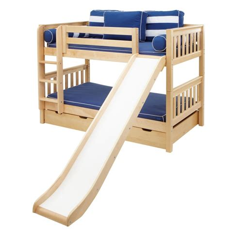 smile low bunk bed with ladder slide