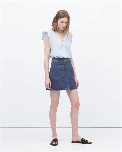 Zara Skirt denim skirt with pockets skirts collection