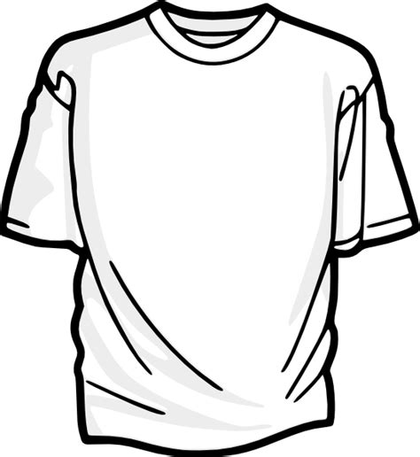 Blank T Shirt 2 Clip Art At Clker Com Vector Clip Art Cool Shirt Coloring Pages