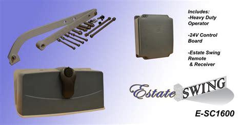 estate swing gate opener gate opener estate swing e sc 1600 column mounting