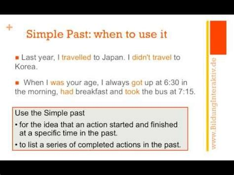 wann benutzt simple past simple past and past progressive