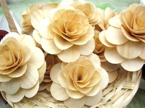 Not Just Flowers But Wooden Flowers by Birch Flowers How To Make Into A Bouquet Weddingbee